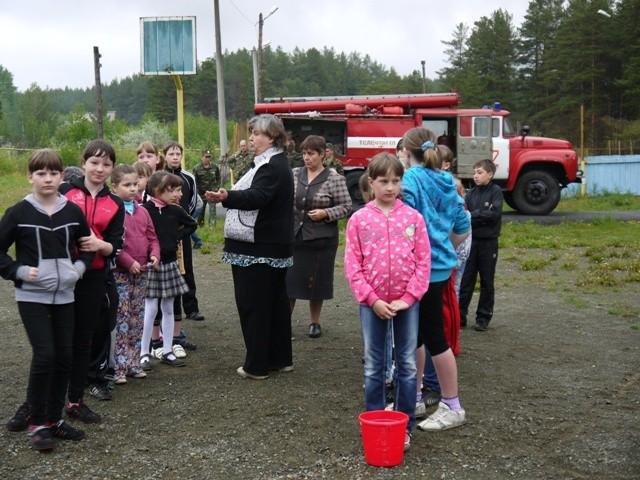 В детском оздоровительном лагере