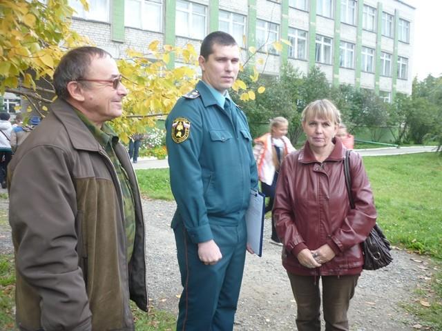Эвакуация в школе № 1