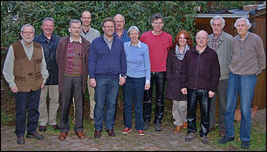 v. l. n. r.: Walter Friese, Werner Lamm, Wolfgang Behringer, Thorsten Kleine, Ralf Enderlein, Dr. Thomas Liedtke, Anette Pries, Dr. Peter Koswig, Yvonne Kappelmann, Hermann Iske, Horst Hesse und Wolfram Zeiss.