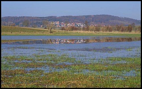 Wasserstaufläche im Marbecktal (Blick Richtung Lengefeld)