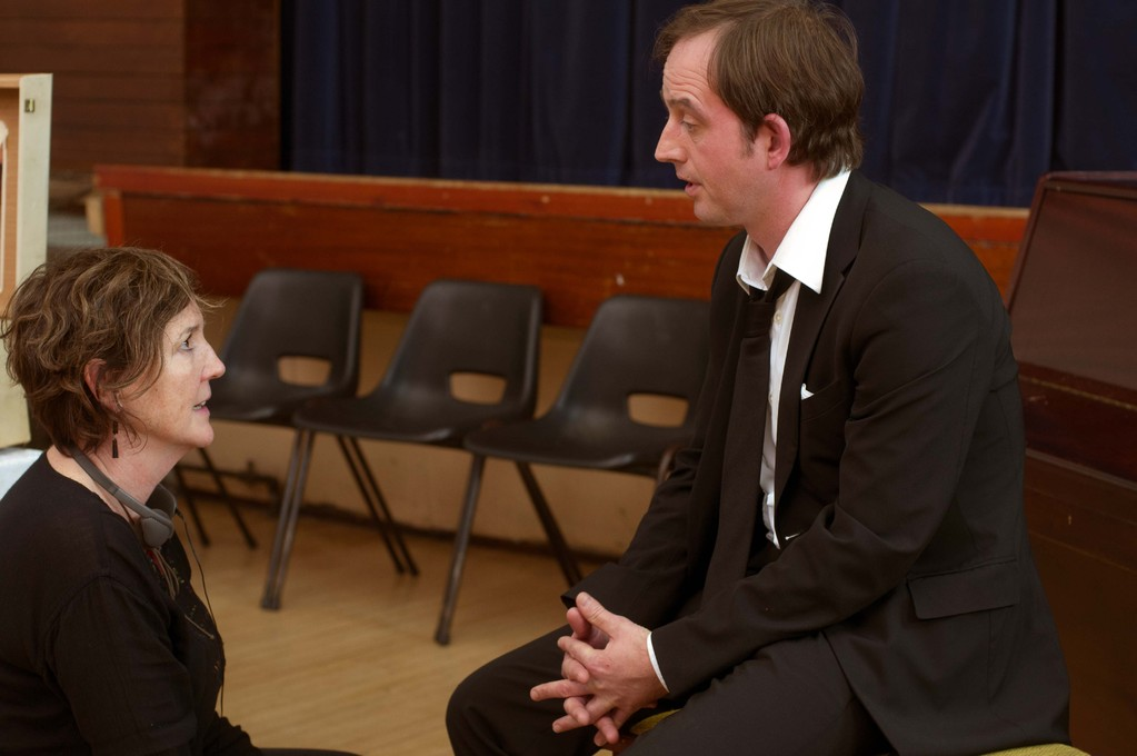 Director Francesca Jaynes with Ben Fox
