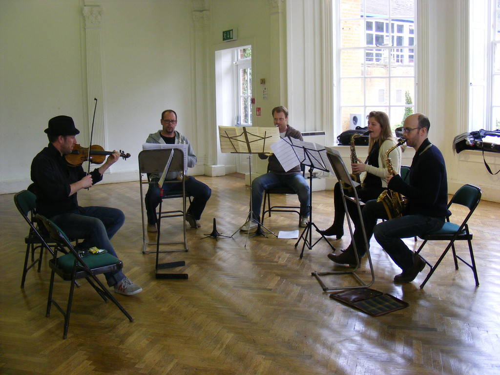Our wonderful musicians rehearsing prior to recording the score.