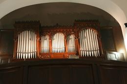 Orgel in St. Cosmas und Damian, K-Weiler (Foto: Kirsten Gerwens)