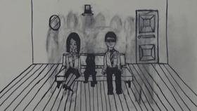 "Accumulating/ 2010 /ビデオ/カラー/6分1秒/ 作曲: Zesses Seglias 音楽タイトル:""noli turbare circulos meos"""