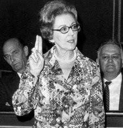 Marguerite De Riemaecker-Legot, première femme ministre belge (ministre de la famille et du logement de 1965 à 1968)