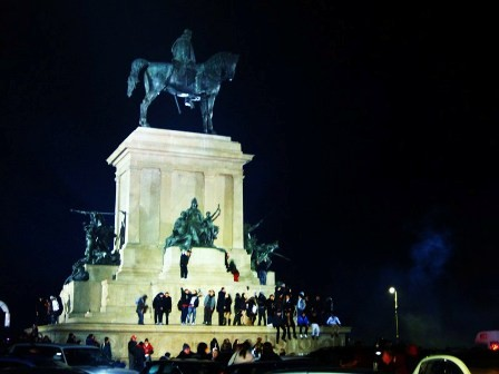 Garibaldi monument at New Year's Eve