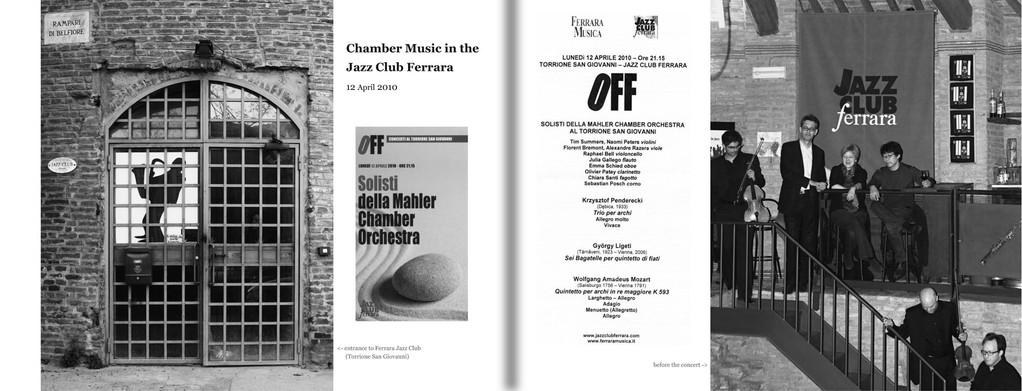 Page 26-27: Jazzclub Ferrara 2010