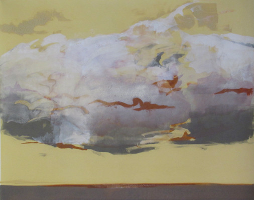 """Heavy Weather"" monotype, 24x32, 2011 (sold)"