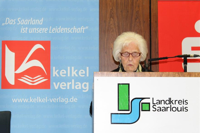 Aus Lisdorf, die älteste Teilnehmerin: MARIANNE FAUST