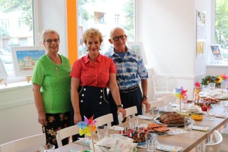 Künstlerfamilie Glathe bei Kunst zum Abendbrot