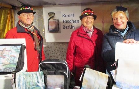 Künstlerfamilie Glathe auf dem Christsternmarkt -Lankwitz