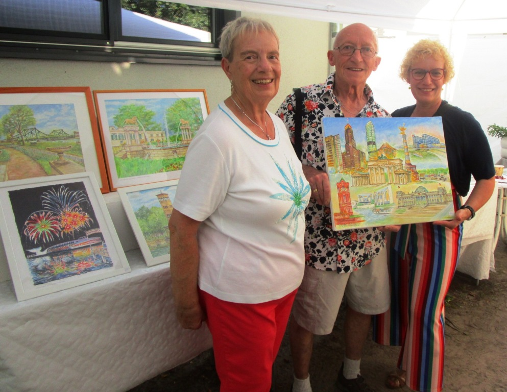Künstlerfamilie Glathe bei Kunst im Garten