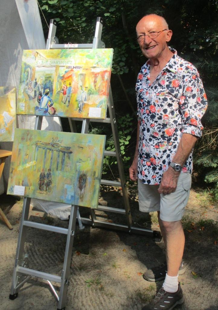 Künstler Dieter bei Kunst im Garten