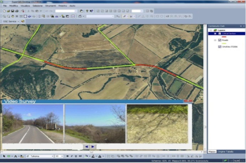 Gestione delle mappe e delle fotografie acquisite