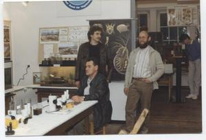 """Beteiligung an der 555-Jahrfeier von Aurich-Oldendorf 1986 durch eine Ausstellung mit Aquarien und Mikroskopen + Präparaten zum Thema """"Fließgewässer Flumm"""""""