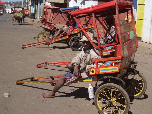Pousse-pousses à Antsirabe