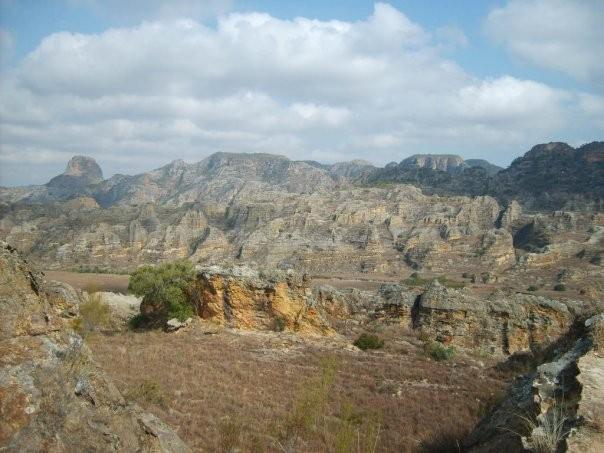 Massif de l'Isalo dans le Sud