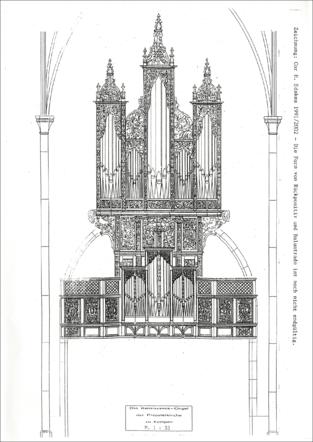 Rekonstruktionsentwurf von Cor H. Edskes 1991 / 2002 mit Ergänzung eines Rückpositivs