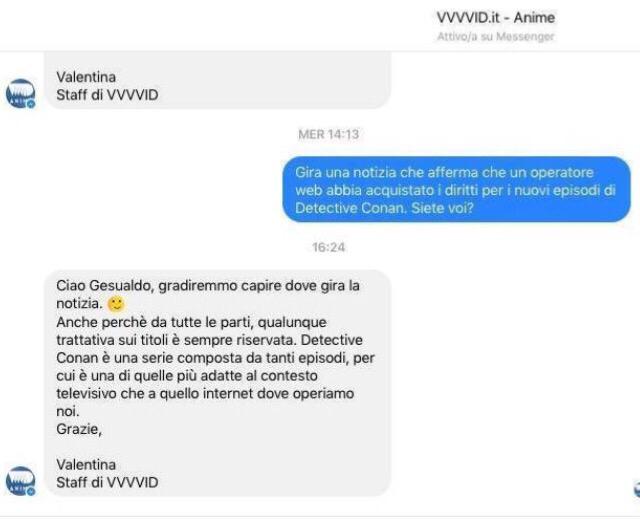 La risposta di VVVVID