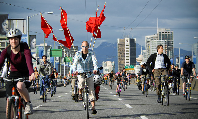 Critical Mass in Vancouver. Foto von flickr.com, ItzaFineDay