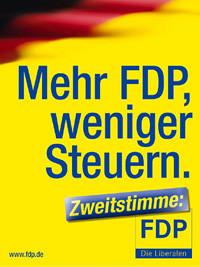 Wahlplakat der FDP 2005