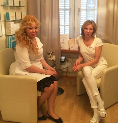 Olena Huber mit Ekaterina Orlova