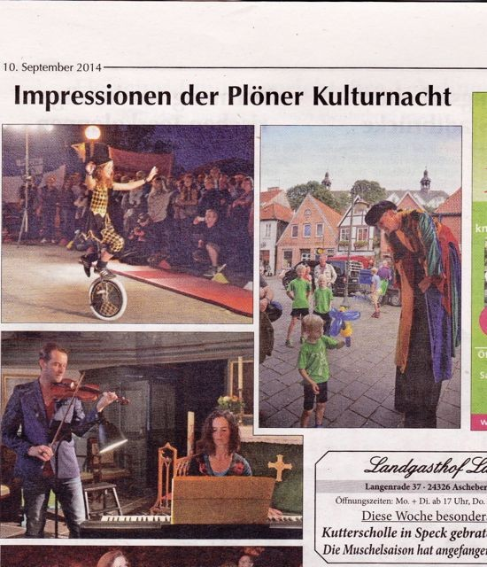 Pressetext in den Kieler Nachrichten am 10. September 2014