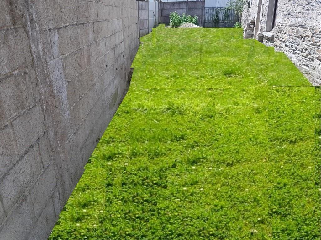 Une des parcelles du jardin clôturé en biodiversité végétalisé