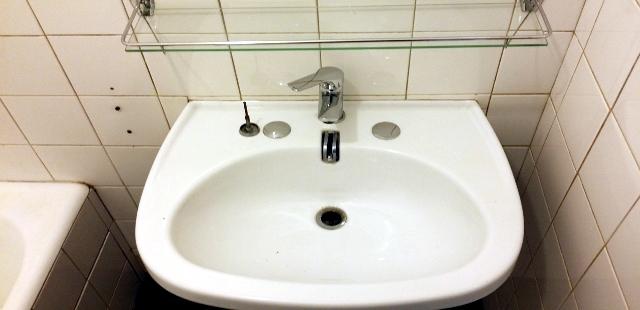 1er étage : Vasque de la salle de bain