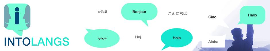 Lerne eine neue Sprache - INTOLANGS