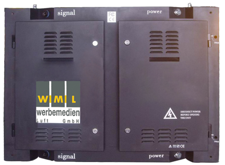 RGB-Modul Outdoor, Rückseite (Edelstahl) IP 65