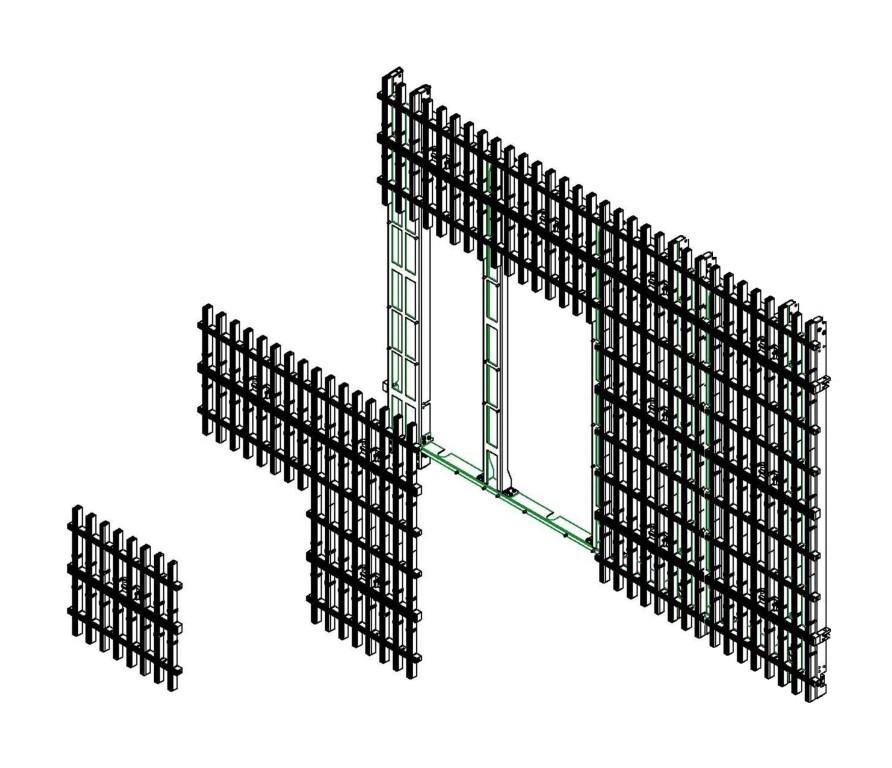 LED-Vorhang Modul M40 (Leichtbauweise)