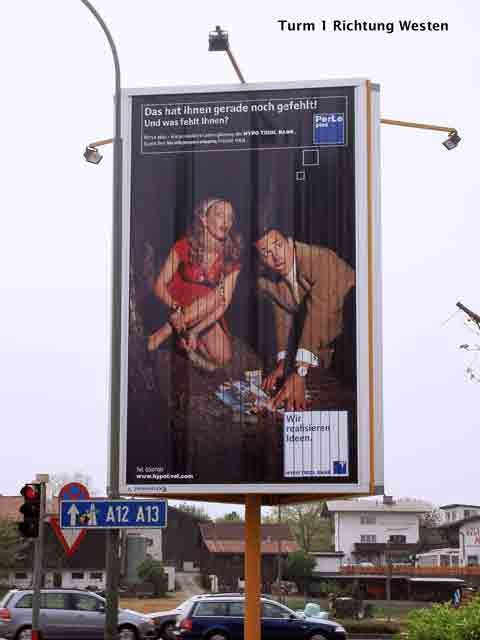 TURM 1  HYPO-Bank - DEZ Kreuzung Richtung Westen