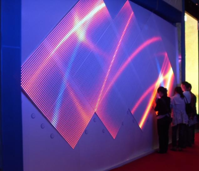 LED Vorhang Wandmontage diagonal