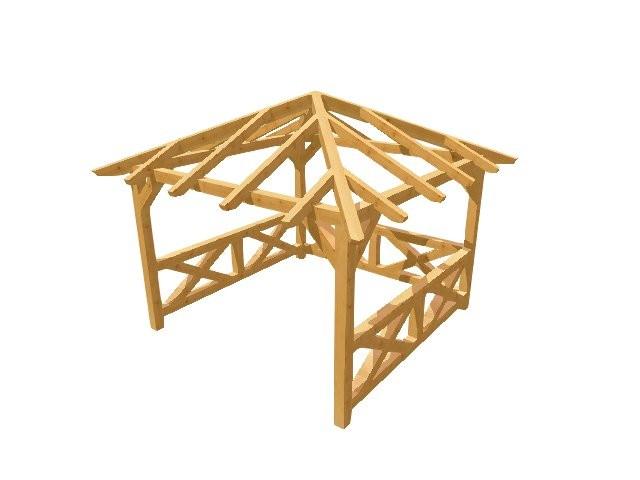 pavillon selber bauen holz. Black Bedroom Furniture Sets. Home Design Ideas