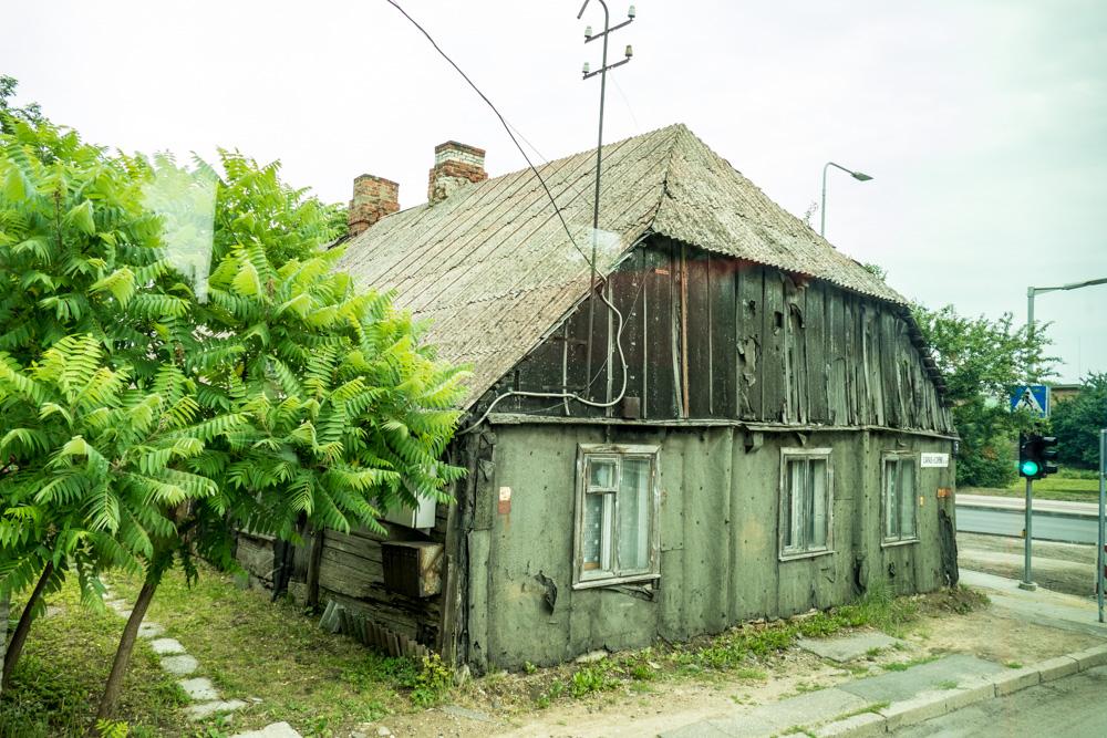 Typisches Holz-Wohnhaus