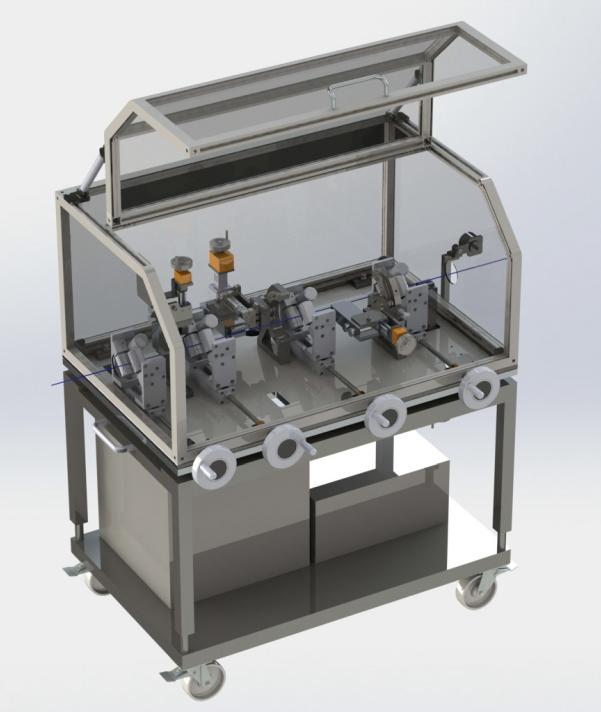 Coronakopfwagen für die Kabelproduktion
