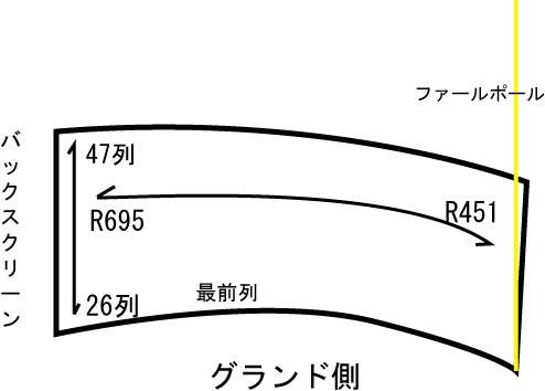 ナゴヤドームライトスタンド 座席表