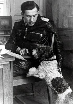 Oberstleutnant Kurt Bühligen - Nidda 1944 Quelle: Archiv Autor