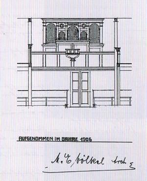 Bild: Teichler Seeligstadt Sachsen Bauzeichnung Orgel