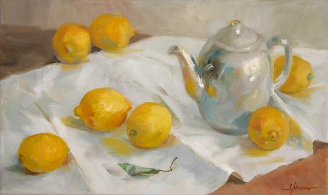 """Zitronen"" 30x50, Öl auf Leinwand"