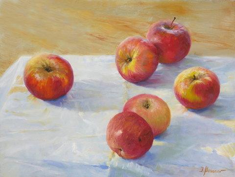 """""""Äpfel"""" 30x40, Öl auf Leinwand"""