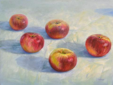 """""""Äpfelchen"""" 30x40, Öl auf Leinwand"""