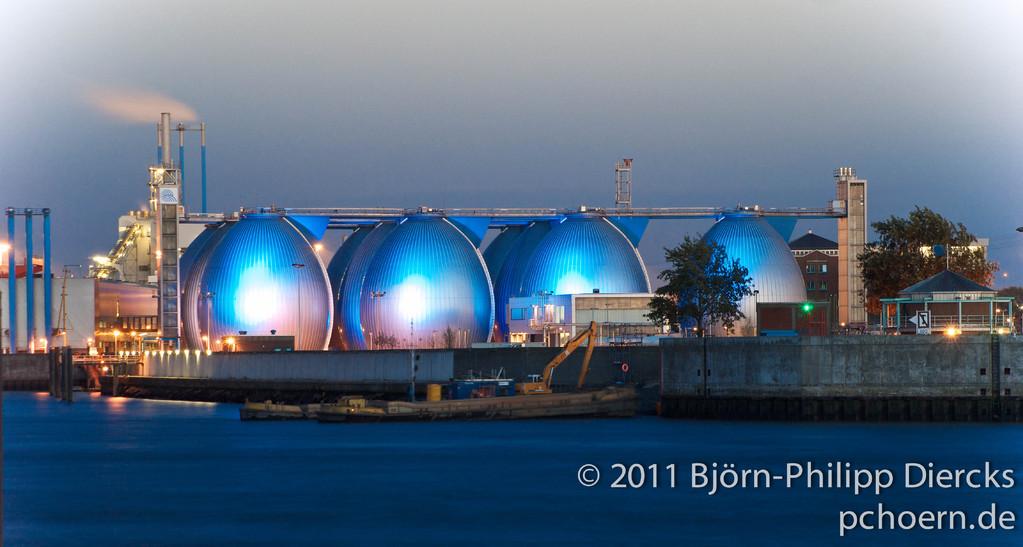 Biogas-Anlage Blau