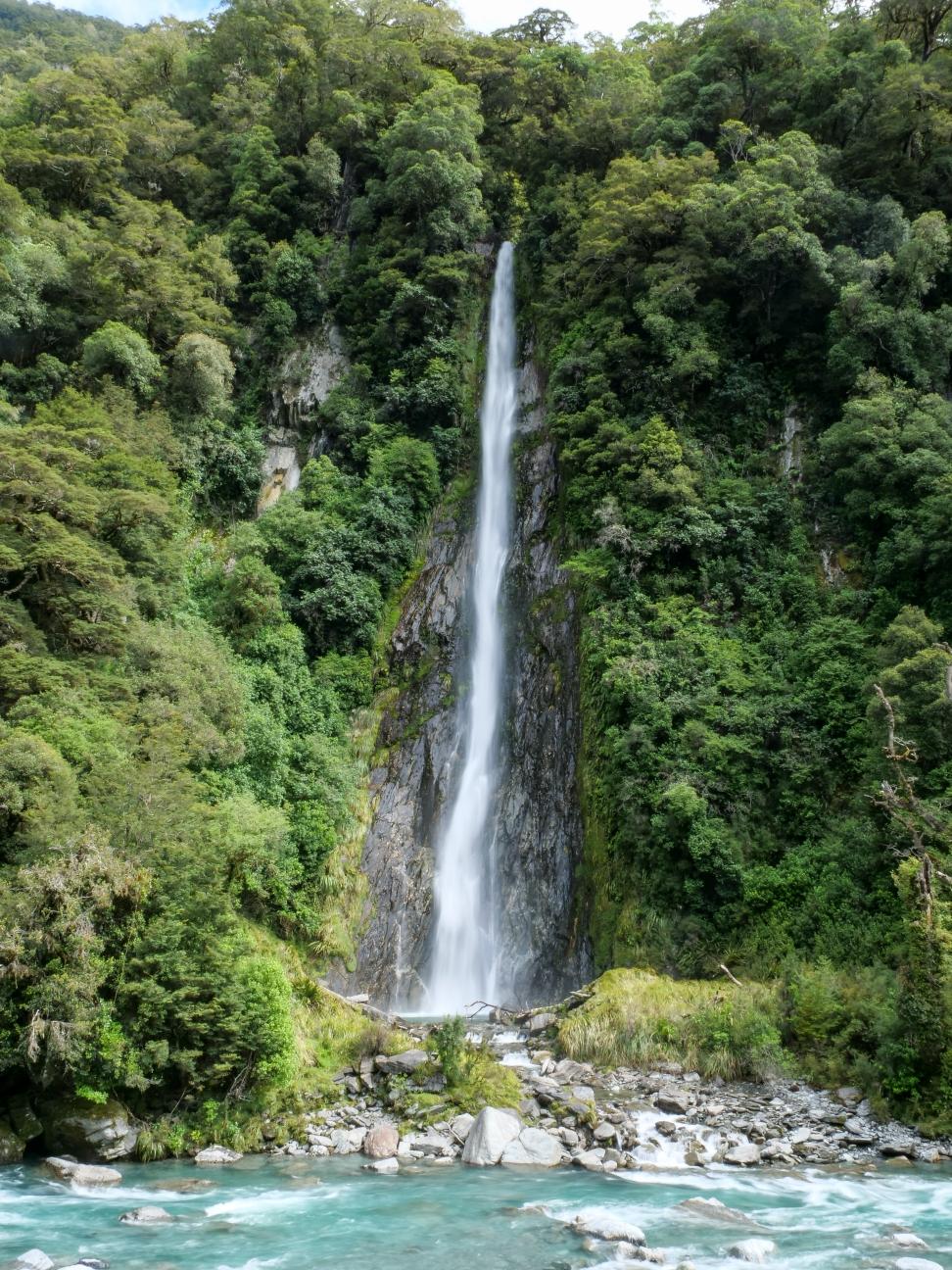 Wasserfälle gibt's auch in Neuseeland