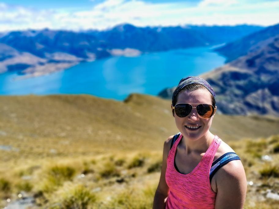 Andrea auf dem Gipfel