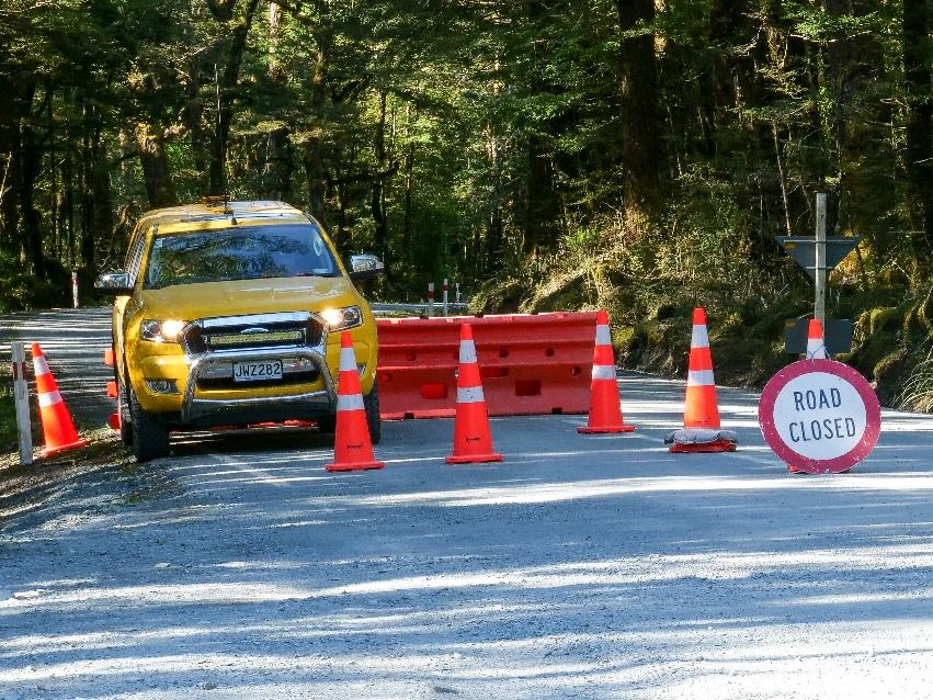 Road closed - hier ist der Beweis.
