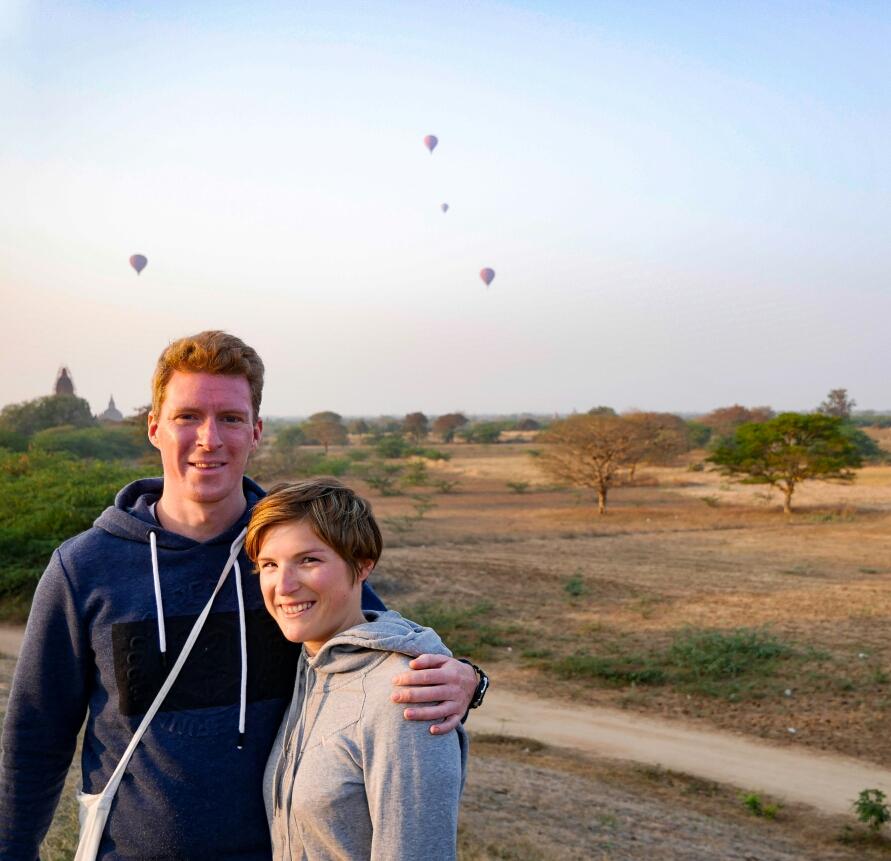 Sonnenaufgang in Bagan soll ja ein Highlight sein, zum Glück waren wir ja noch wach