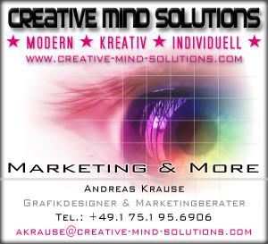 Homepage erstellt durch CREATIVE MIND SOLUTIONS.