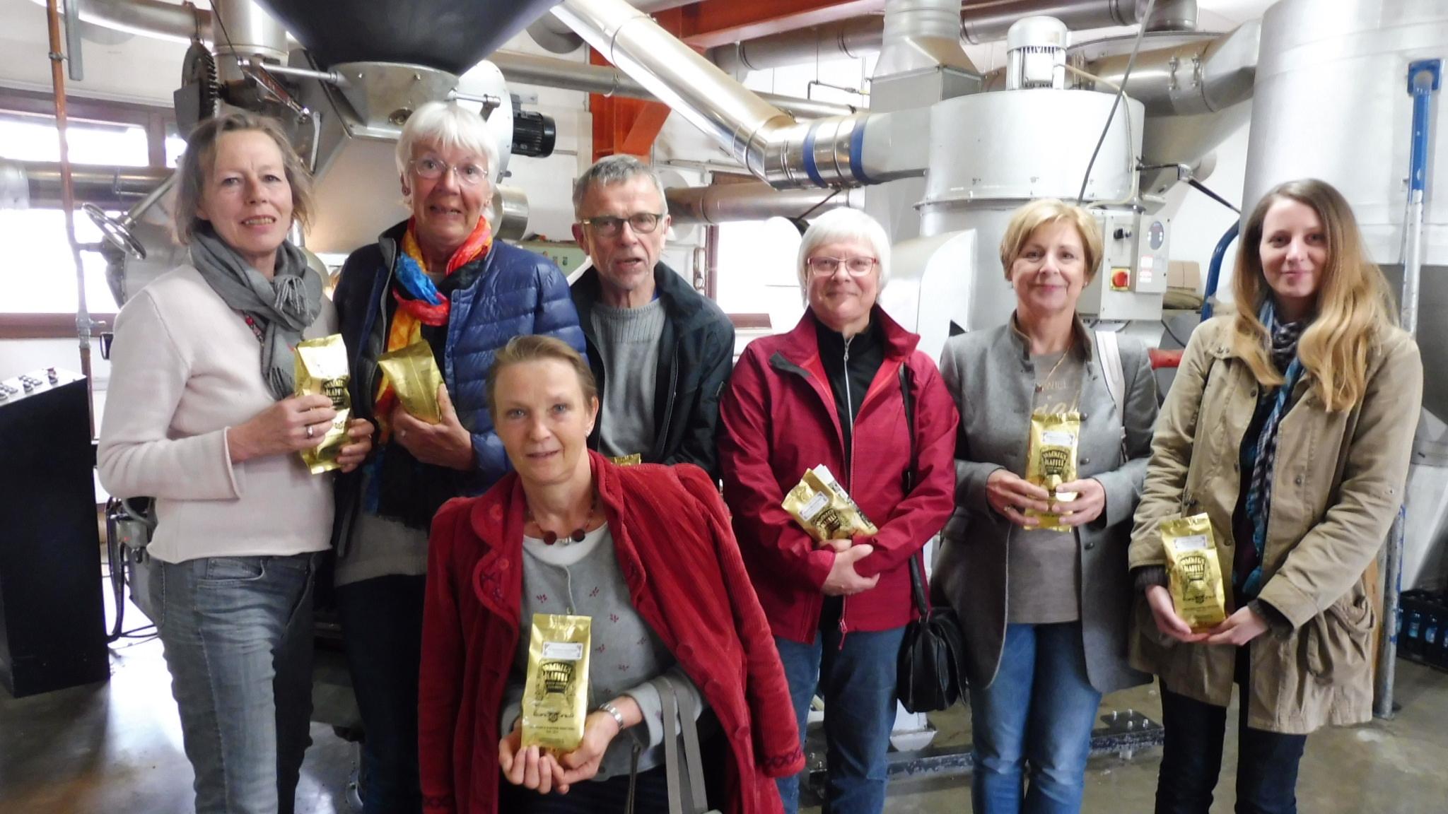 und bei einer Rösterereiführung von Kaffee Wackers in Frankfurt, wo der Bad Nauheimer Stadtkaffee geröstet wird